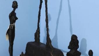 Einige gefälschte Giacometti-Skulpturen (Archiv)