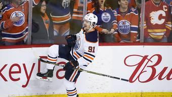 Gaetan Haas jubelt auch in der nächsten Saison für die Edmonton Oilers