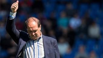 Raimondo Ponte zeigt sich in Vaduz erlöst über den ersten Sieg des FC Aarau seit über sechs Monaten
