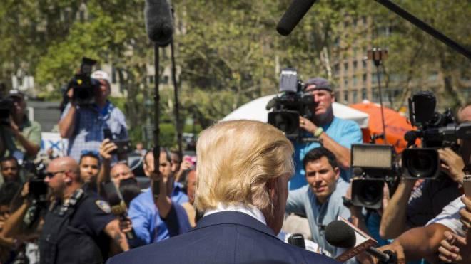 Donald Trump sorgt mit seinen Auftritten stets für Aufsehen. Foto: Lucas Jackson/Reuters