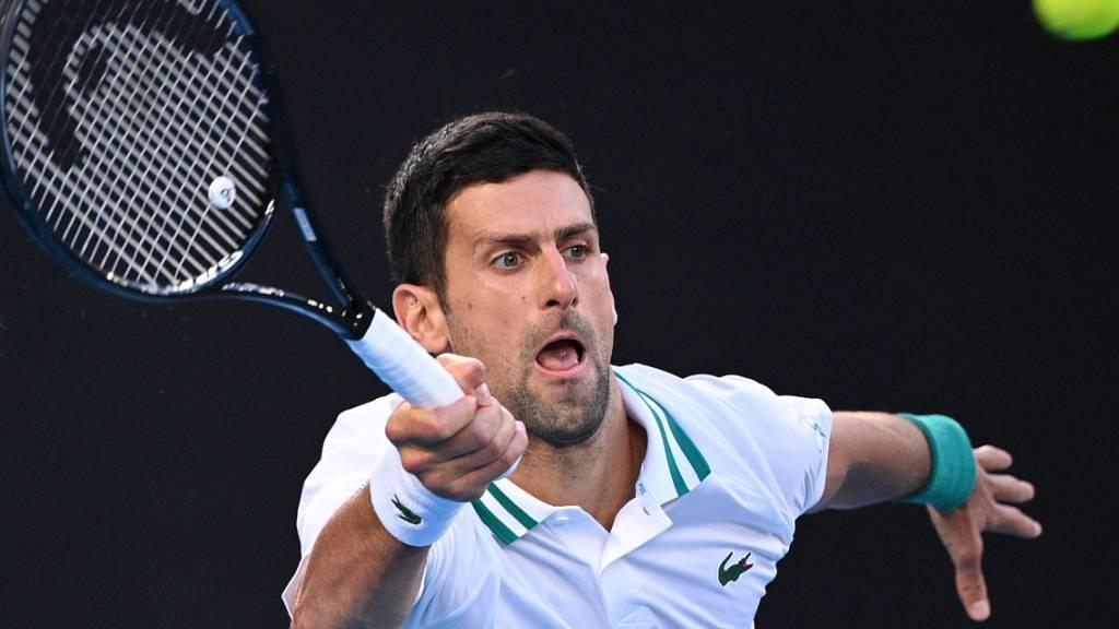 Novak Djokovic war vom überraschenden Russen Aslan Karazew nicht zu stoppen: Der Serbe greift am Sonntag nach seinem neunten Titel in Melbourne