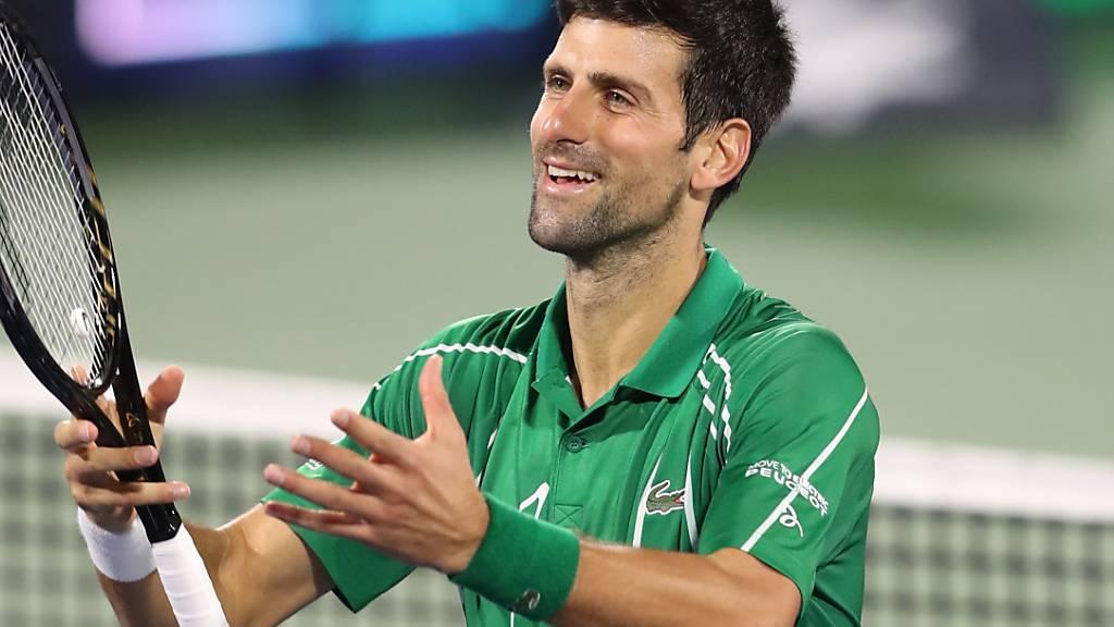 Djokovic setzt Siegesserie in Dubai fort
