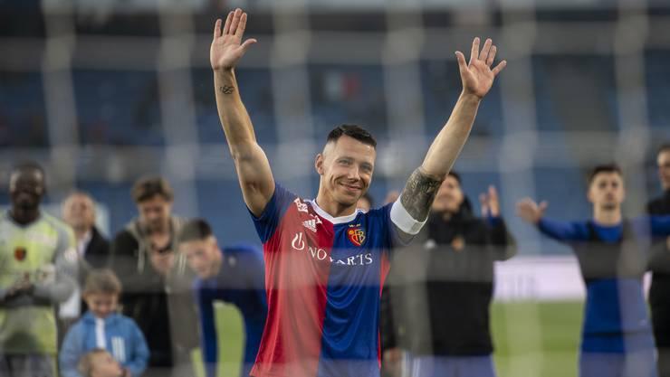 Marek Suchy verabschiedet sich von den Fans.