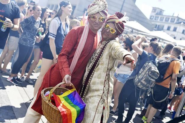 Impressionen vom Pride-Umzug.
