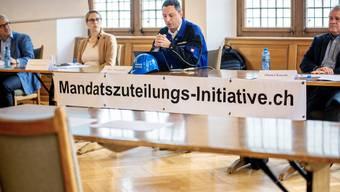 Martin Gautschi, Yvonne Buchwalder, Reto Wettstein und Daniel Knecht (von links) wollen um den verlorenen Brugger Grossratssitz kämpfen.