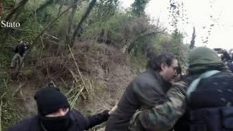 Szene der Verhaftung der beiden Mafiosi am Freitag.