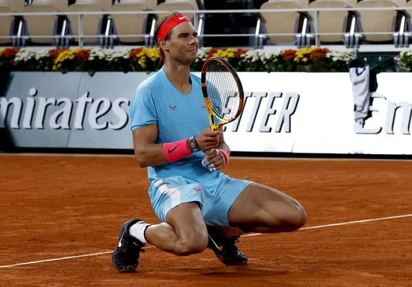 Rafael Nadal bejubelt seinen 13. French-Open-Triumph.