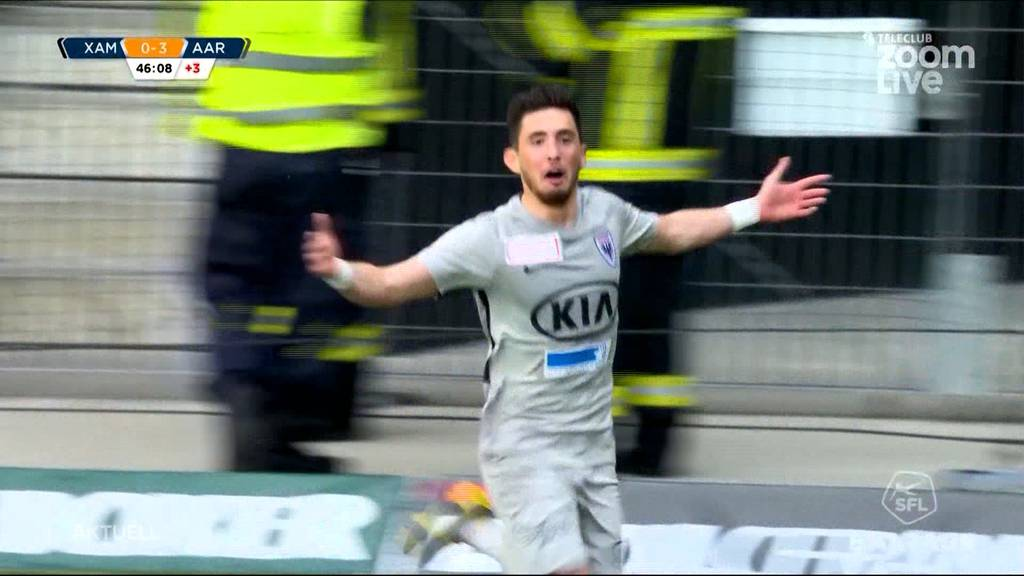 Aarau greift nach der Super League: Grandioser Sieg im Barrage-Hinspiel