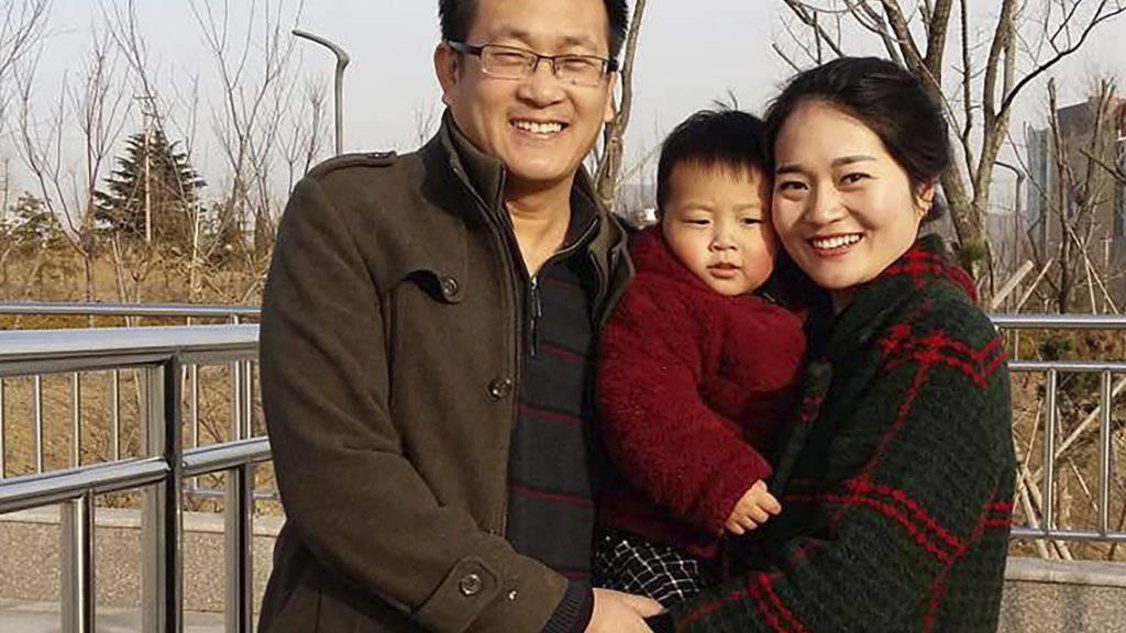Der chinesische Menschenrechtsanwalt Wang Quanzhang (links) ist in China am Montag zu einer mehrjährigen Haftstrafe verurteilt worden. (Archivbild)