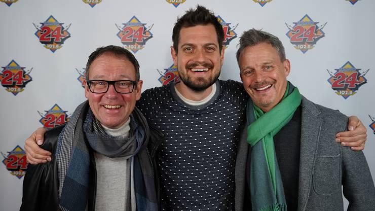 Erich Vock und Hubert Spiess spielen zusammen mit Dominik Widmer auf der Zürcher Märchenbühne.