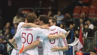 Das Schweizer Unihockey-Nationalteam steht im WM-Viertelfinal