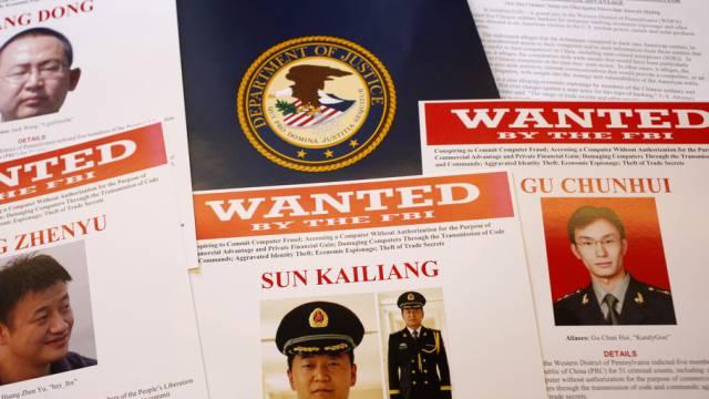 Fahndungsblätter der angeklagten chinesischen Hacker