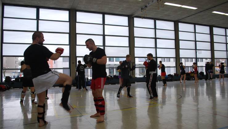 Punkt-Training Kickboxen in Derendingen.