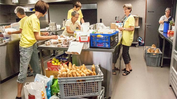 Insgesamt arbeiteten während dem 3-Tage-OL 18 Personen in Schichten in der Küche.