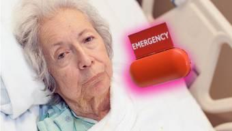 Brisant: Der Alarmknopf, mit dem Patienten um Hilfe rufen können, ist momentan in zahlreichen Schweizer Heimen ausser Betrieb.