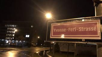 Umbenenn-Aktion der SP Frauen Aargau zum Frauentag am 8. März