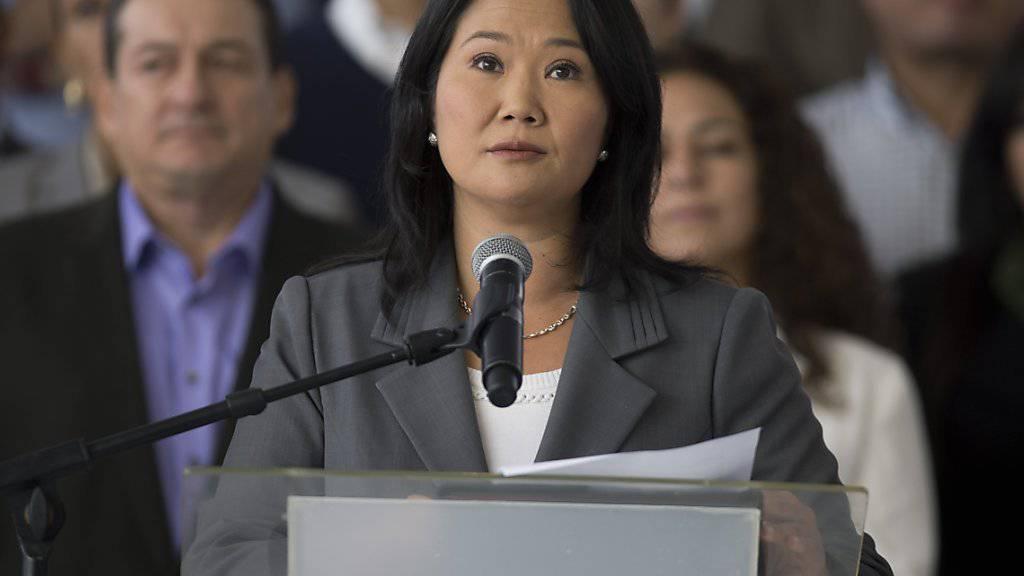 Nimmt die Wahlniederlage an: Keiko Fujimori verspricht Peru eine verantwortungsvolle Opposition.