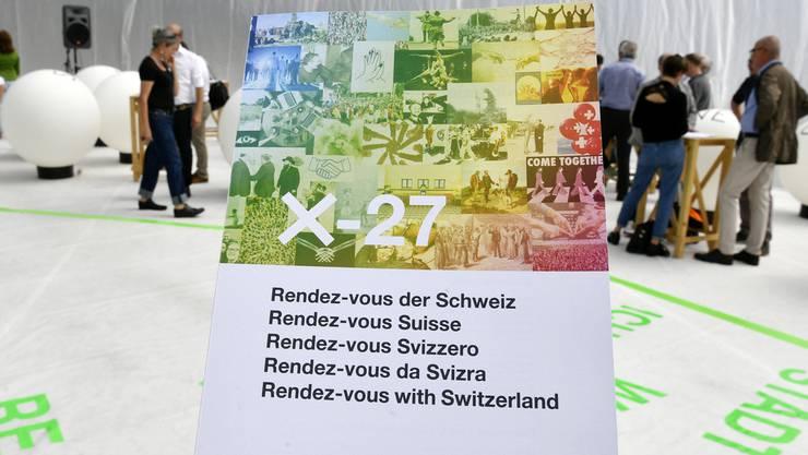 """""""Rendez-vous der Schweiz"""" X-27, Projekt der Landesausstellung 2027 auf dem Flugplatz Dübendorf."""