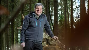 Christoph Fischer im 250-jährigen Waldstück im Gönhardwald.