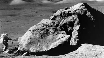 Astronaut Harrison H. Schmitt bei einem Nasa-Einsatz auf dem Mond im Jahr 1972. (Archivbild)