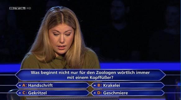 Da staunt die Ärztin. Welche Antwort will Günther Jauch hier hören?
