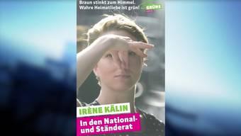 In einem aktuellen Inserat teilt die grüne Aargauer Nationalratskandidatin in den eigenen Reihen kräftig aus – und spaltet die Partei.