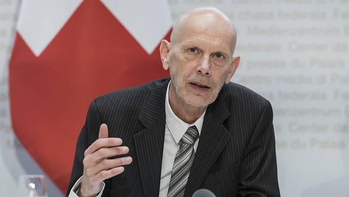 Daniel Koch, Leiter der Abteilung übertragbare Krankheiten, im Bundesamt für Gesundheit, informiert über die neuen Massnahmen gegen die Ausbreitung des Coronavirus.