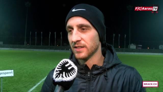 «Es war ein bitterer Abend»: Captain Sandro Burki und Interims-Trainer Sascha Stauch im Interview nach dem Spiel gegen Lausanne.
