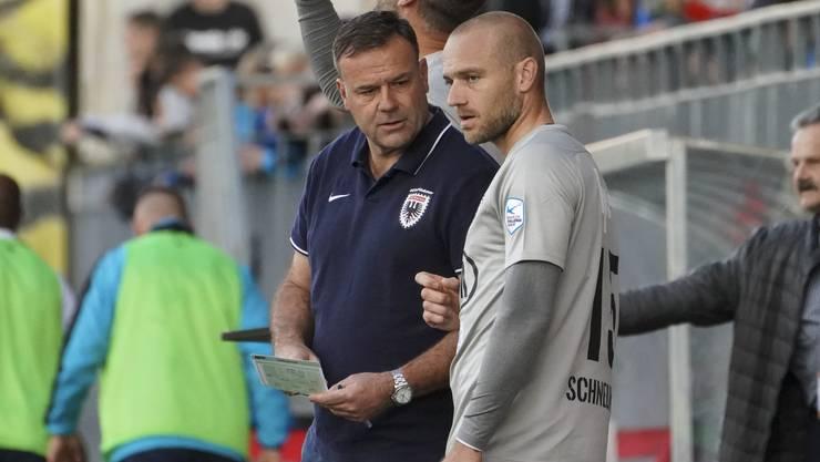 FCA-Trainer Patrick Rahmen kann zumindest bis Saisonende auf den sechsfachen Torschützen Marco Schneuwly zählen.