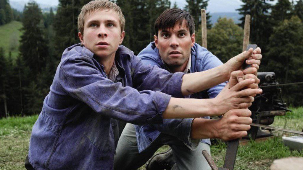 """Max Simonischek (r) - hier in """"Der Verdingbub"""" - schätzt an Schweizer Filmsets die vertraute Atmosphäre (Handout)."""