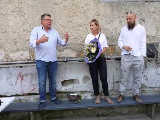 Peter-Jakob Kelting (l.) ist künftig Künstlerischer Leiter Alte Reithalle/Tuchlaube. Er sagt über das letzte halbe Jahr: «Es war ein wahnsinniger Ritt.»
