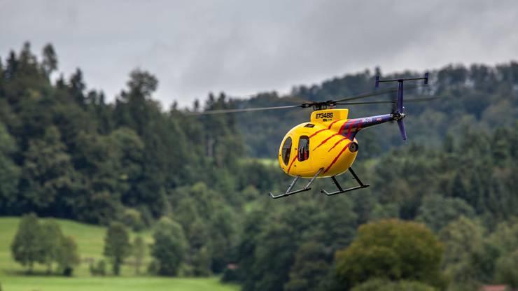 Helikopter im Schwebeflug