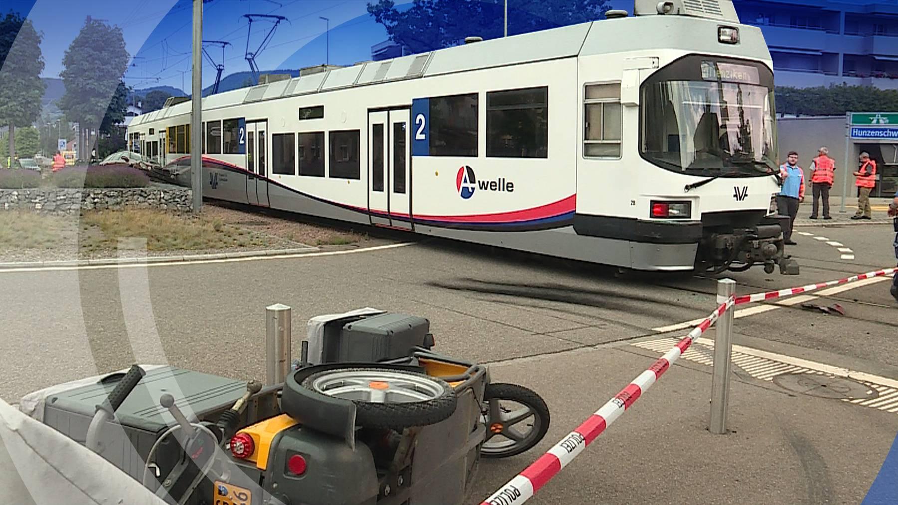 Unfall-Tram-Post