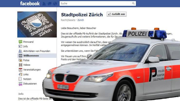 Stadtpolizei Zürich auf Facebook. Die Kantonspolizei Solothurn will im nächsten Jahr nachziehen.