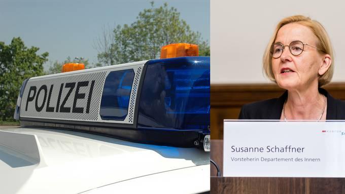 Polizeidirektorin Susanne Schaffner sah sich mit einer Stimmrechtsbeschwerde konfrontiert. (Archivbild)