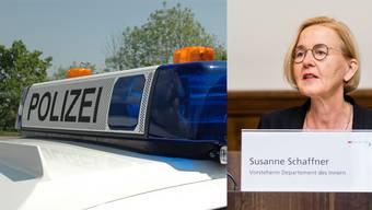 Susanne Schaffner ist als Vorsteherin des Departements des Innern Polizeidirektorin.