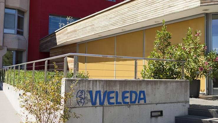 Mit den Naturkosmetika von Weleda geht's weiter aufwärts. Seinen Hauptsitz hat das Unternehmen in Arlesheim BL. (KEYSTONE/GAETAN BALLY)