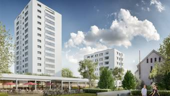 Der Glattlerpark soll zum Begegnungsort werden mit Restaurant, Lebensmittelgeschäft, Apotheke und Coiffeur.