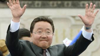 Der amtierende Präsident Tsakhia Elbegdorj hat zahlreiche Anhänger