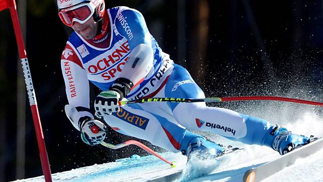 Didier Défago am Riesenslalom in Val d'Isère gut unterwegs