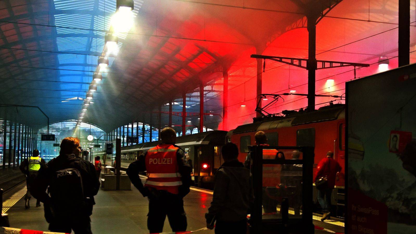 Lugano-Chaoten wüten in Luzerner Bahnhof