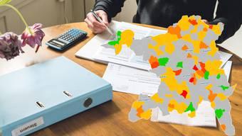 Steuerfüsse 2018: 58 Prozent der Gemeinden gaben Steuerfussabtausch weiter.