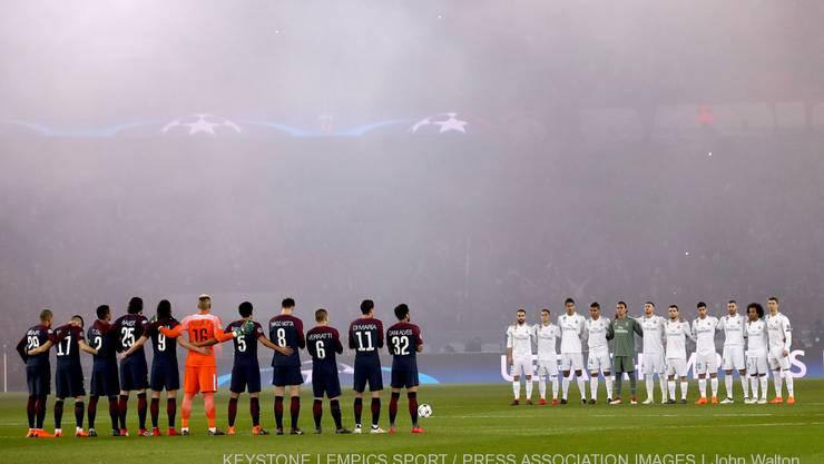 Schweigeminute vor Champions-League-Achtelfinal: PSG - Real Madrid