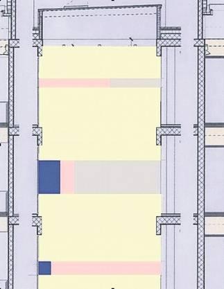 Das Siegerprojekt des einzigen Aargauer Künstlers Stefan Gritsch aus Lenzburg heisst «Texturen». Gritsch will den Verputz auf den zwei gegenüberliegenden Wänden eines Lichthofs teilweise wieder abtragen. Er will den sandfarbenen Verputz gezielt entfernen lassen, um die entstandenen Lücken mit Acrylfarbfolien und Farbhäuten partiell neu zu überziehen. Sein Ansatz ist poetischer und nicht ökonomischer Natur. Der Raum soll so atmosphärisch aufgewertet werden.