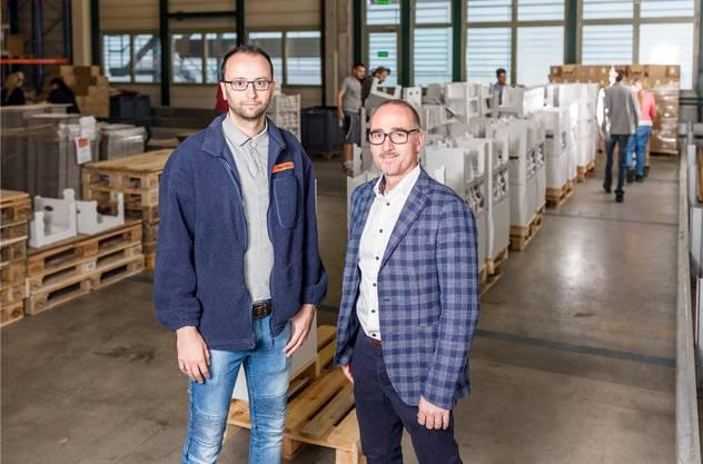 Dario Dosen, Migros Verteilzentrum (l.), und Martin Bhend, «Orte zum Leben».