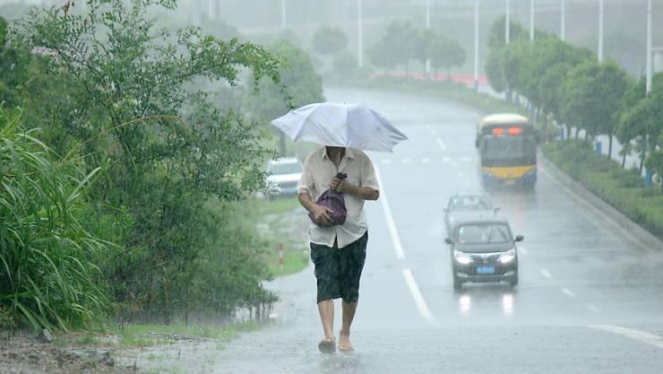 """Der Taifun """"Lekima"""" hat zu Unwettern in China mit zahlreichen Todesopfern geführt."""