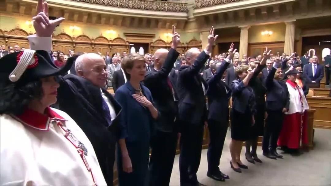 Vereidigung der Bundesräte und des Bundeskanzlers