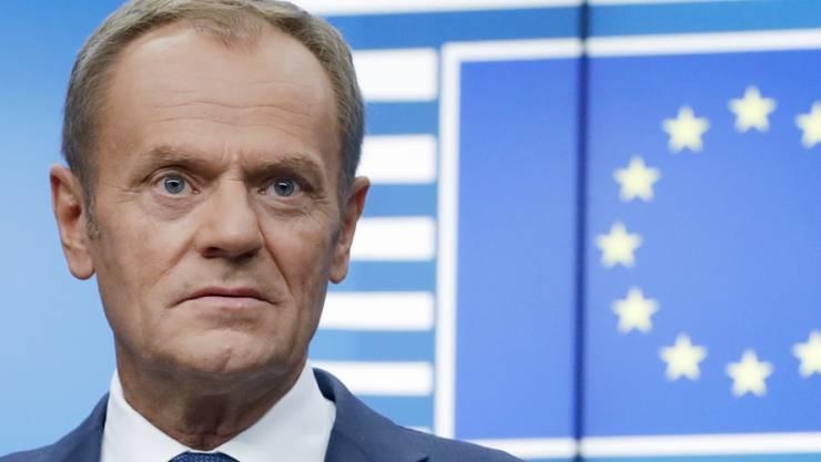 Die EU-Staaten haben sich am Montag in Brüssel auf einen Brexit-Aufschub bis Ende Januar geeinigt. Das teilte EU-Ratspräsident Donald Tusk im Kurznachrichtendienst Twitter mit. (Archiv)