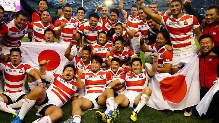 Japan feiert den Sieg wie einen WM-Titel