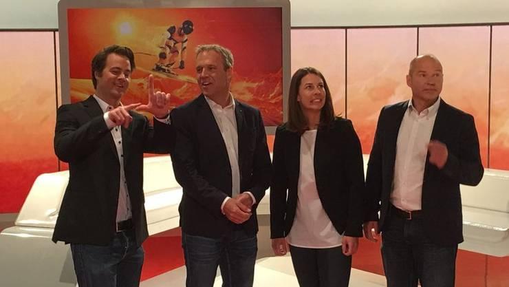 Das neue SRF-Expertenteam mit Marc Berthod, Michael Bont, Dominique Gisin und Marc Girardelli.